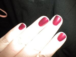 "Real nails sporting the Sephora OPI polish ""Because I said so!"""