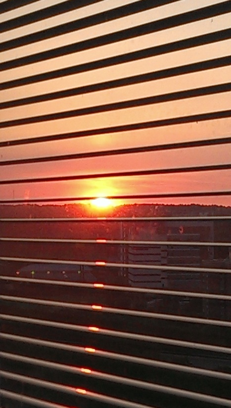 Sunset from my aunt's hospital room - there was something very powerful about capturing this moment and sharing it with her.
