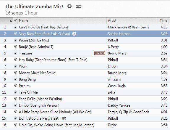 Zumba Workout Schedule
